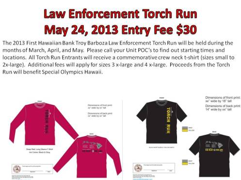 Torch Run T-Shirt Flyer