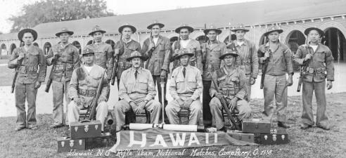 Hawaii National Guard Rifle Team, Camp Perry, Ohio, 1938