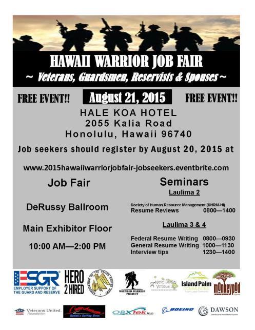 2015 Hawaii Warrior Job Fair