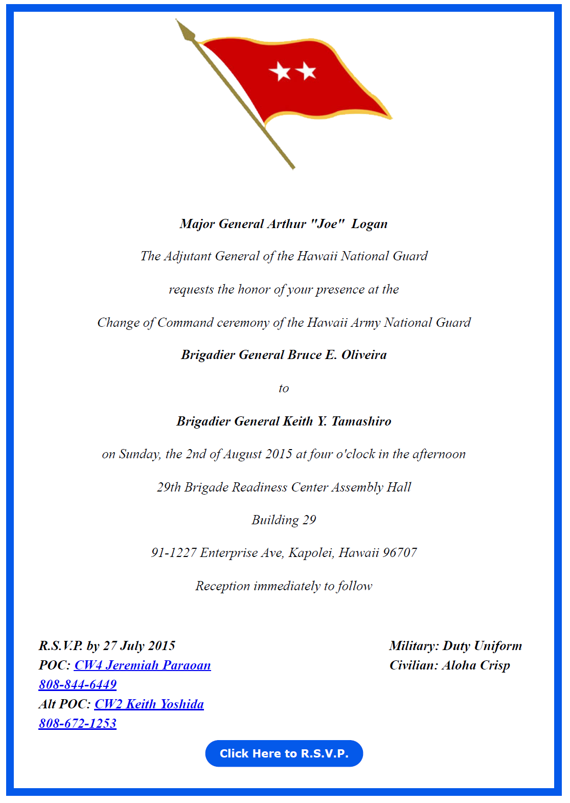 change of command flyer The racer flyer is the offi cial newsletter published by, and for, the members of the indiana air national guard,  nessed the change of command ceremony, .