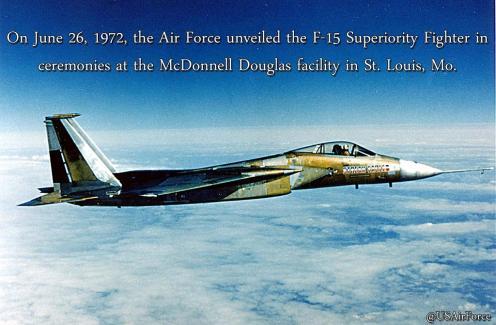 First F15 flight