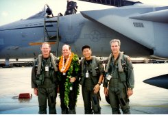 """Mike """"Boss"""" Tice, BD, Stan """"Pilau"""" Hong, and Geoff """"Thunder"""" Avery"""