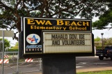 Ewa Beach Elementary School sign express the school's thanks for Gov. David Ige's initiative.