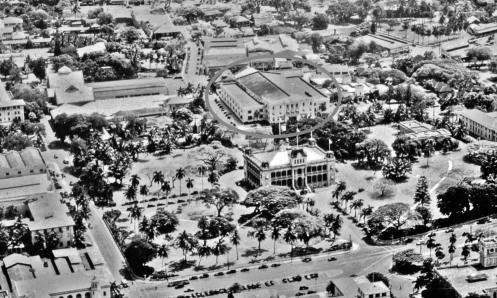 Honolulu Armory in circle