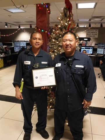 Senior Airman Chase Maglangit and Supervisor Trebor Kang