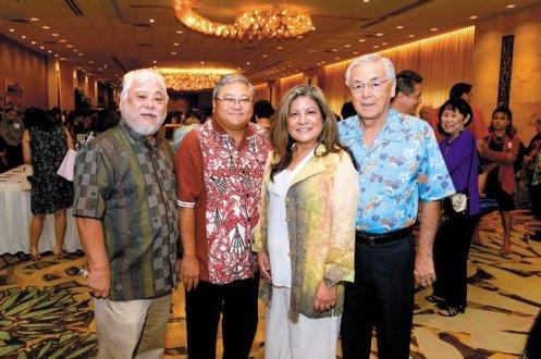 Dexter Teruya, Ford Chinen, Laverne Higa and Ed Kuba
