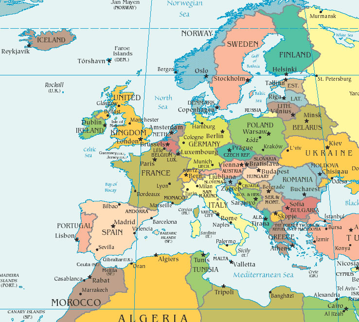 kart over europe US State Department issues travel alert for Europe | Retiree News kart over europe