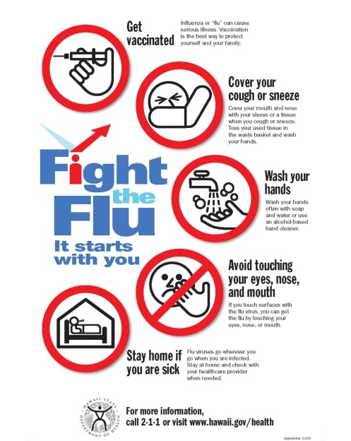 Flu Vaccine Flyers Free: Fight The Flu Reminders