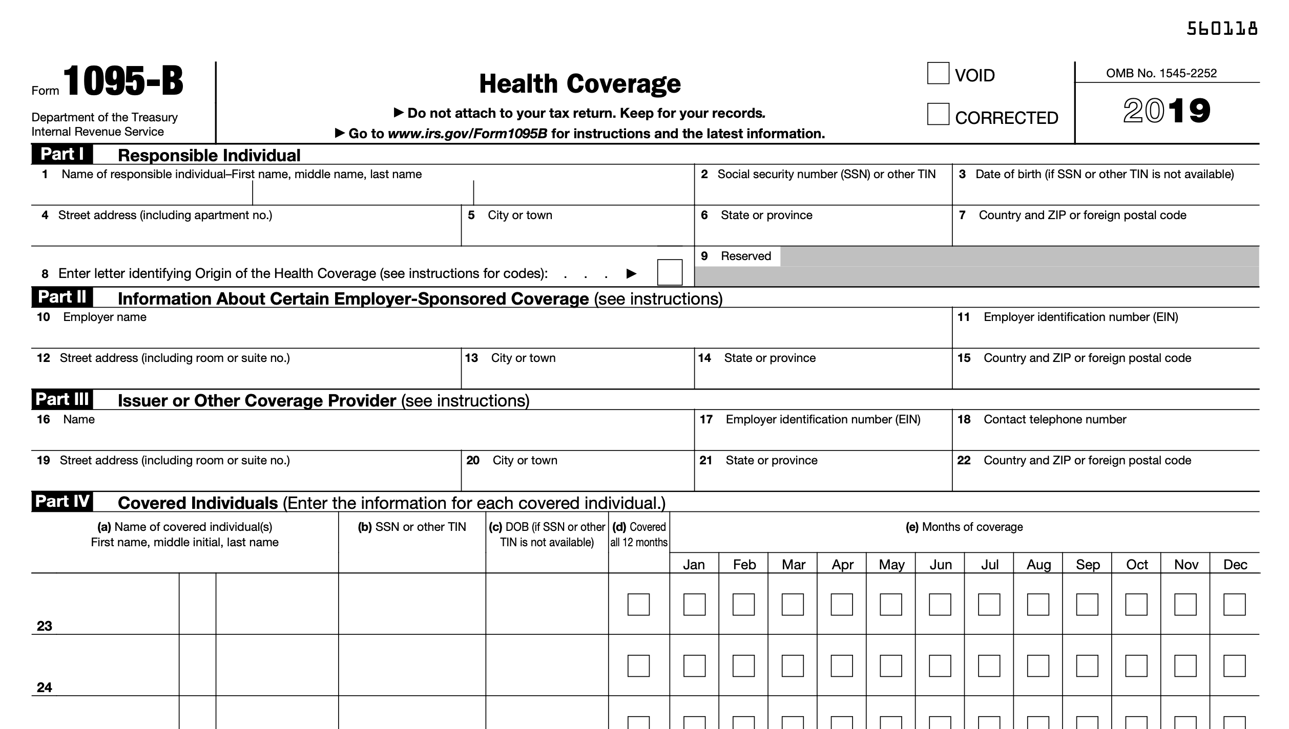 Irs Form 1095 B Affordable Care Act Is Available On Mypay